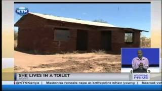 A woman from Kibwezi lives in a toilet with her son