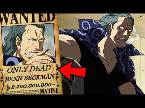 One Piece - How Strong Is Benn Beckman? (The Strongest Commander?!)