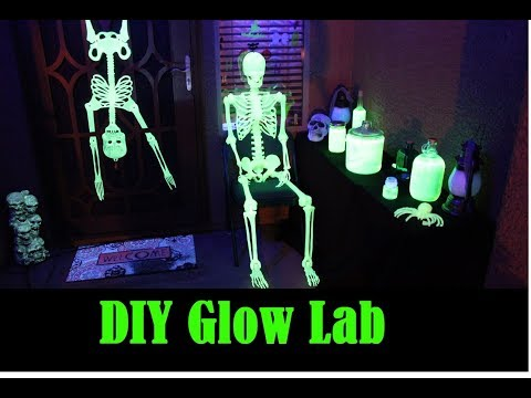 DIY Blacklight Lab for Halloween