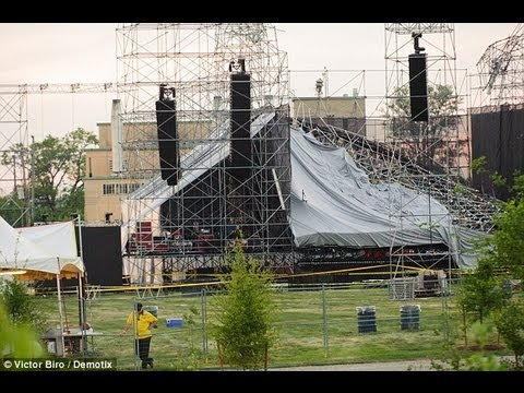 Radiohead Stage Collapses, Crew Member Killed- WATCH Mp3