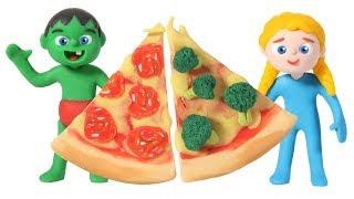 Pizza Challenge ❤  Cartoons For Kids