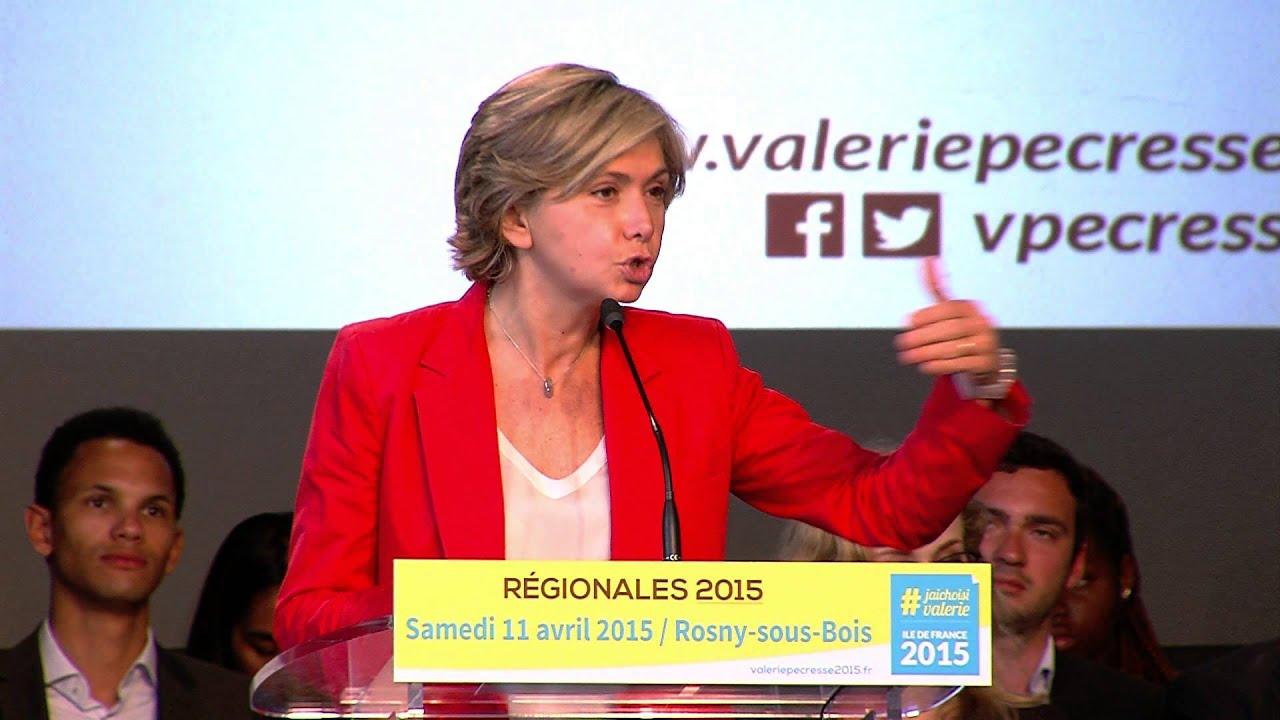 Régionales 2015 : succès en demi-teinte de Valérie Pécresse pour le premier tour