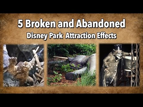 Thumbnail: 5 Broken and Abandoned Disney Park Attraction Effects