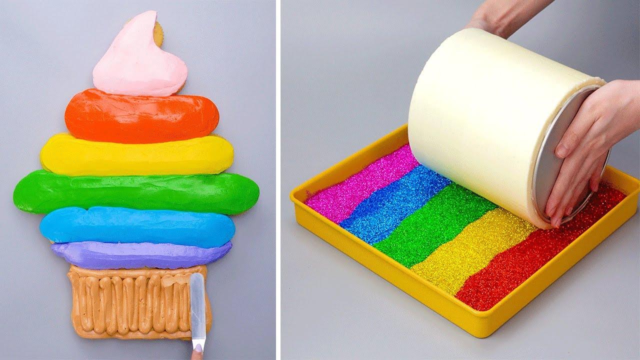 Top 1000+ Fancy Colorful Cake Decorating Videos | Satisfying Chocolate Cake Hacks Tutorials