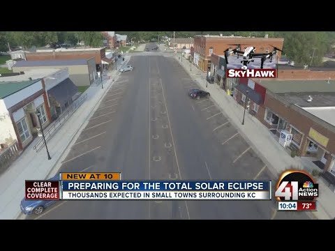 Small towns brace for huge crowds for eclipse