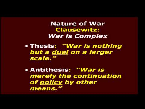 What is the Nature of War?