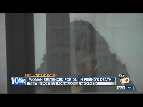 Woman sentenced for DUI in friend's death