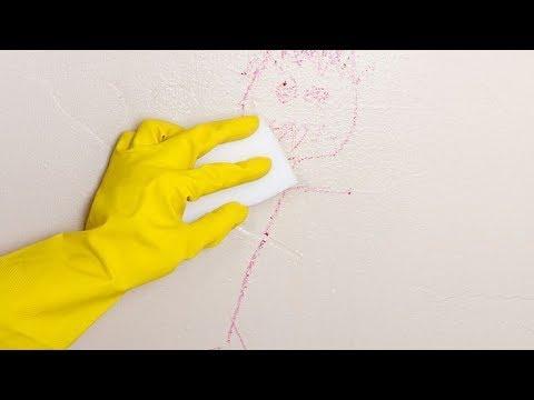 Como limpar parede com riscos e marcas de m o suja youtube - Como quitar pintura de la pared ...