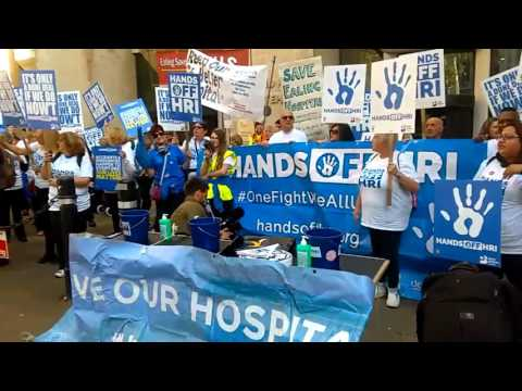 Huddersfield Examiner Live - Hands Off HRI Campaign at Department of Health (October 10th, 2016)