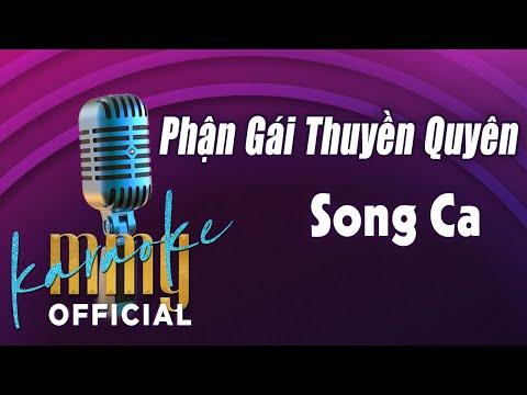Phận Gái Thuyền Quyên Karaoke Song Ca | Hát với MMG Band