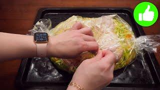 Выкладываю все сверху капусты и в духовку Ужин из курицы который я готовлю очень часто