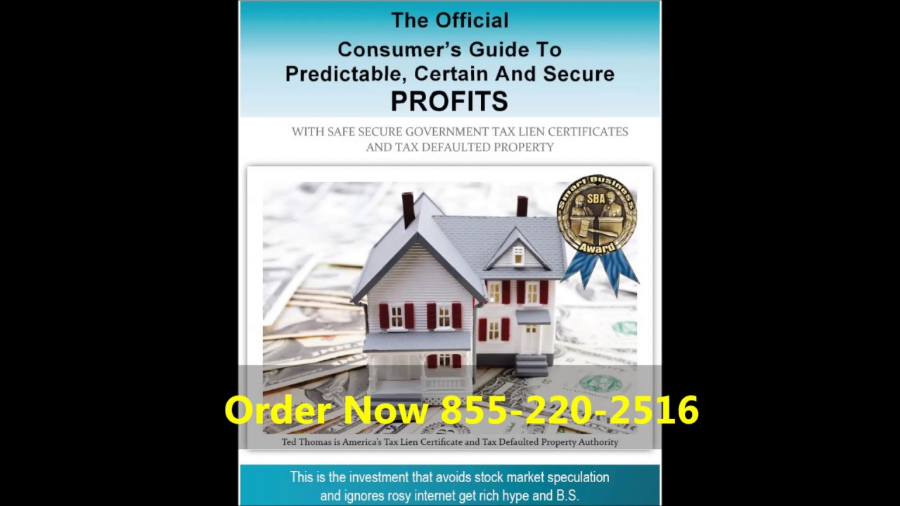 Ted Thomas Tax Lien Certificates 25 Min Youtube