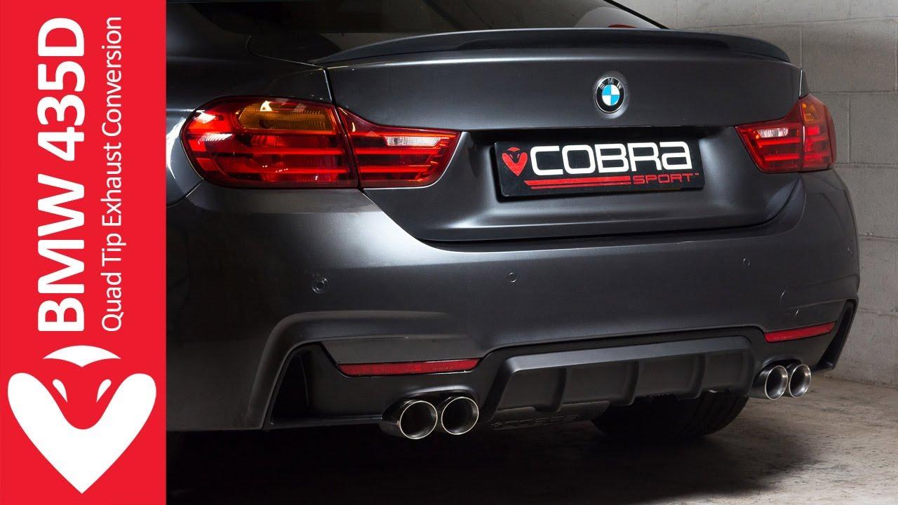 BMW 435D Diesel (M4) Quad Exit Sports Exhaust   Cobra Sport