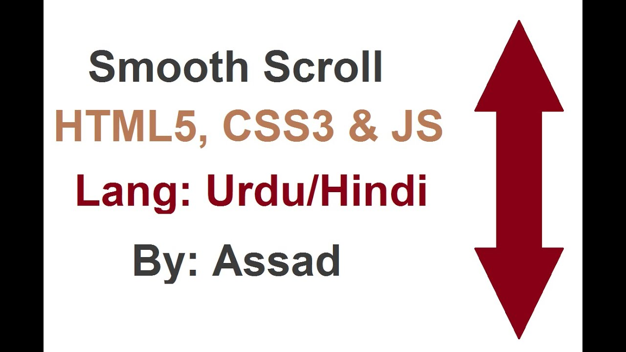 Smooth Scroll Lesson HTML, CSS and JavaScript (Urdu/Hindi)
