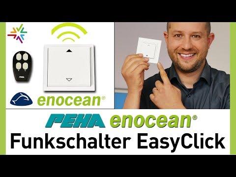 PEHA EnOcean Funkschalter EasyClick - Wandsender ohne Batterie und Kabel