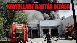 Tűz volt egy háromezer négyzetméteres raktárépületben Budapesten