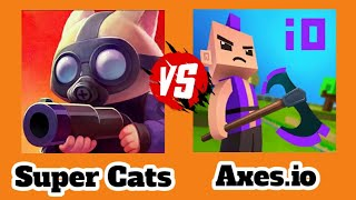 Super Cats Vs Axes.io | Skins | Heroes | Weapons | Gameplay HD | Game Review