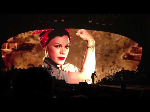 Pink - Equality Message Video - P!NK Beautiful Trauma Tour - Indianapolis March 17, 2018