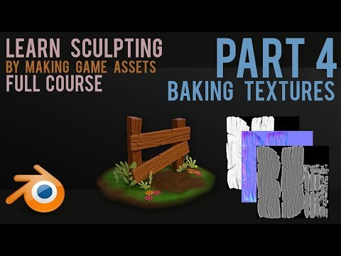 Sculpting Workflow  - create game assets - part 4  - Baking Textures