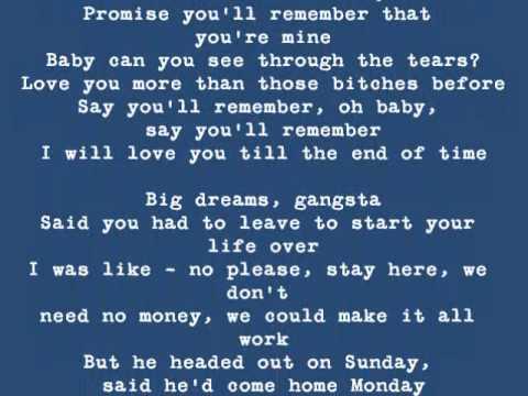 Blue Jeans by Lana Del Rey (Lyrics on Screen)
