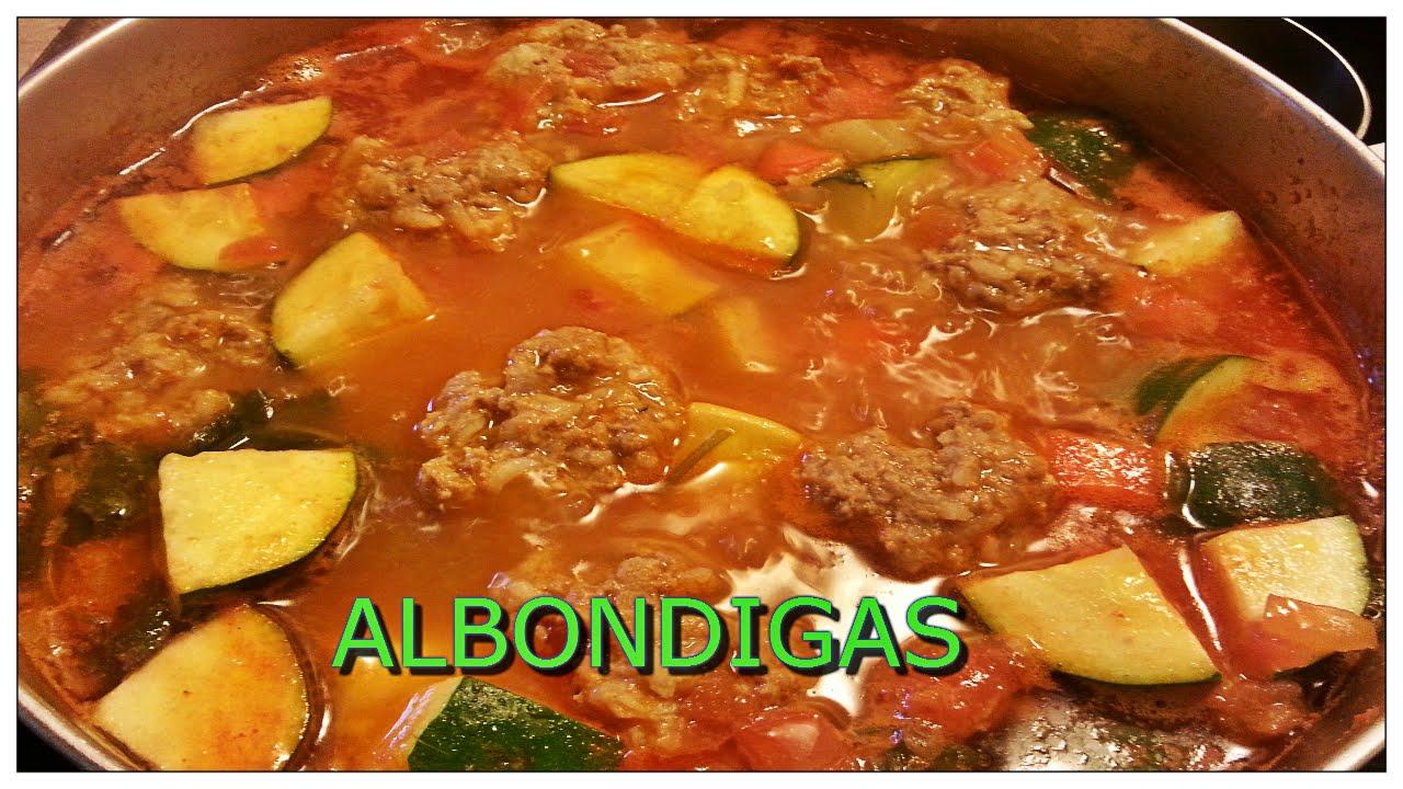 Alb ndigas caldo con verduras youtube - Albondigas con verduras ...