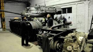Moteur de char Patton M47, mise en marche après restauration par Philippe Castiaux !!!! 2/2