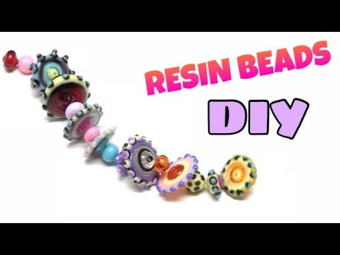 Resin beads- contas resina- Tutorial- DIY- UV resin