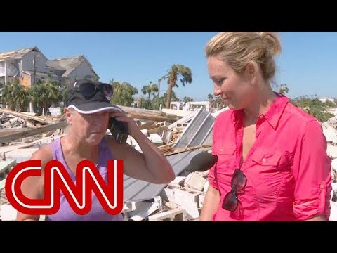 Phone call brings hurricane victim to tears
