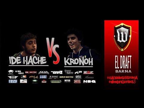 DRAFT BARNA: Ide Hache VS Kronoh #WordFighters3 #5tateOfMind