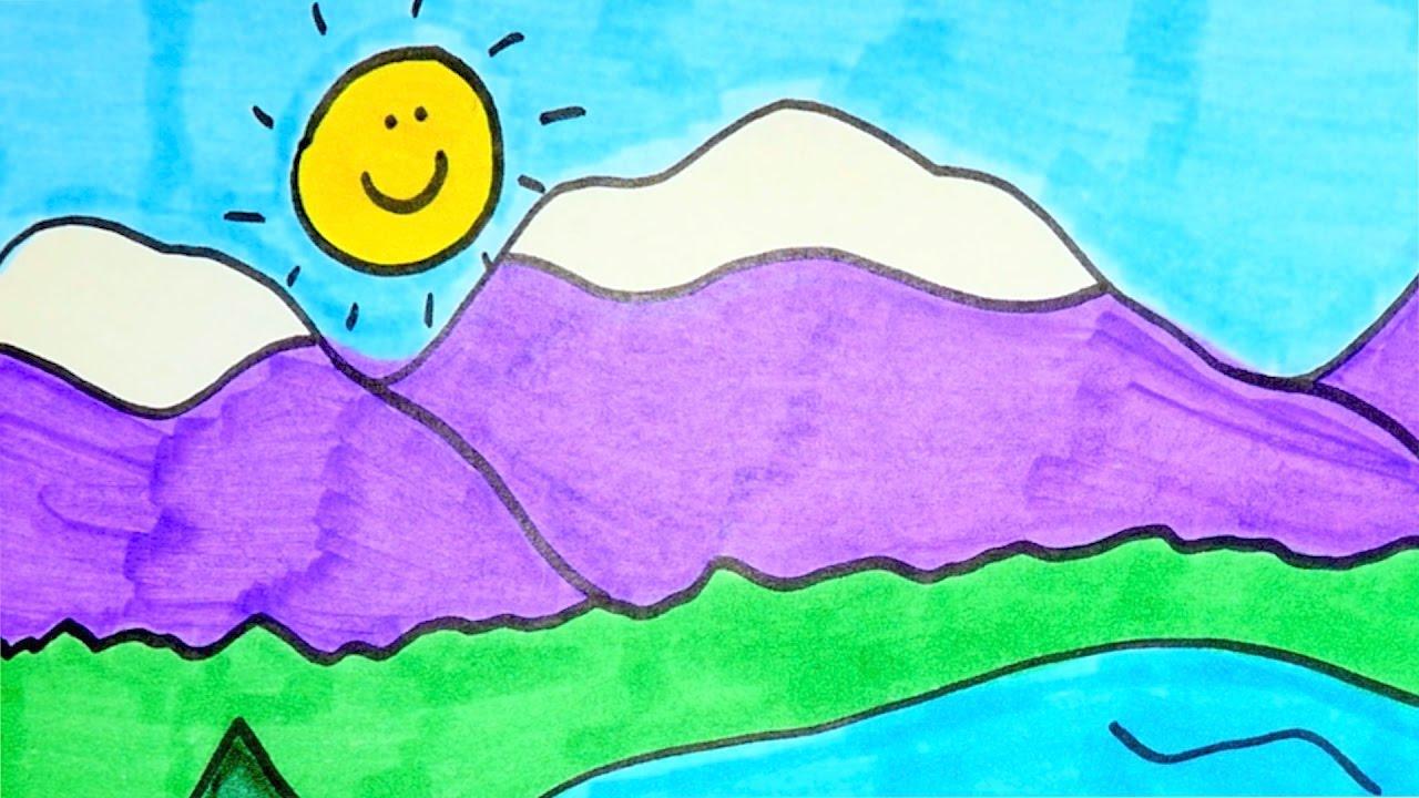 картинка озеро для детей
