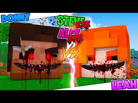 Minecraft EVIL STEVE HOUSE VS EVIL ALEX HOUSE - BOY VS GIRL!!