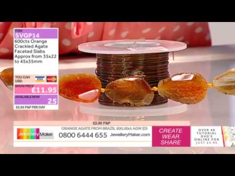 Peach Cultured Pearls for jewellery making:JewelleryMakerlate show LIVE 17/09/2014