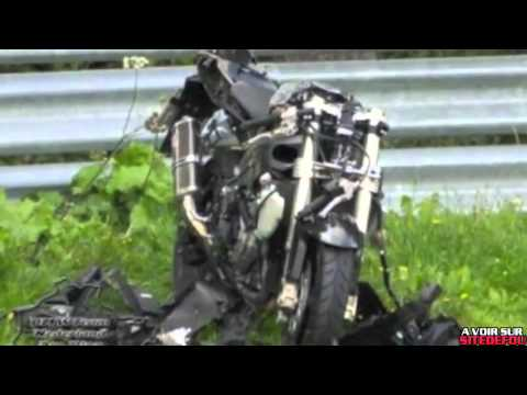 compilation d 39 accidents de motos en france youtube. Black Bedroom Furniture Sets. Home Design Ideas