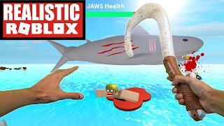 Realistic Roblox - Survive a SHARK ATTACK! | Roblox JAWS!