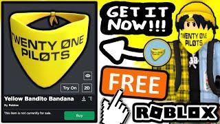 FREE ACCESSORY! HOW TΟ GET Yellow Bandito Bandana! (ROBLOX TWENTY ONE PILOTS EVENT)