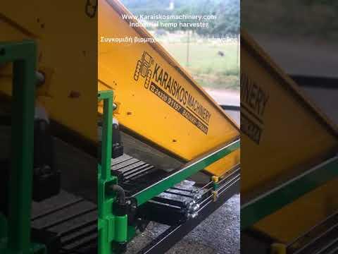Hemp harvester Karaiskos machinery