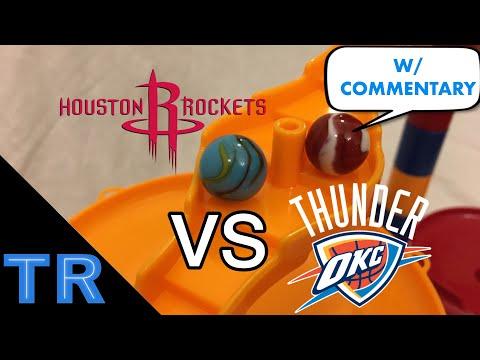 Sports Marble Race: Houston Rockets vs. OKC Thunder - Toy Racing