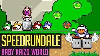 Baby Kaizo World (Mario-Romhack) Speedrun in 45:10 von Dennsen86 | Speedrundale