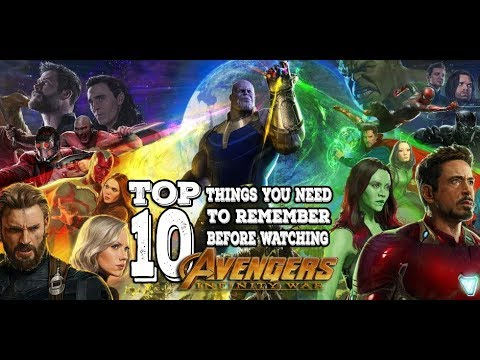 Top 10 Things You Need To Remember Before Watching Avengers Infinity War
