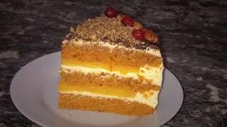 Морковный торт. Апельсиновый курд + крем-чиз! Он точно станет вашим любимым!