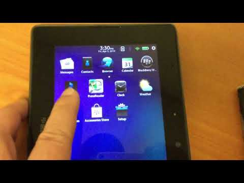 Updating BlackBerry PlayBook Software - YouTube