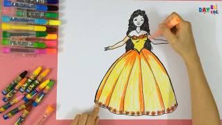 Dạy bé học tập vẽ nàng công chúa | Dạy bé học