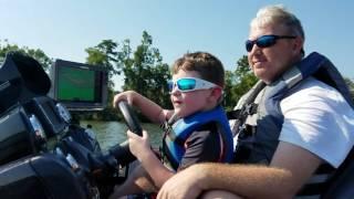 Liam driving new Nitro Z21 boat