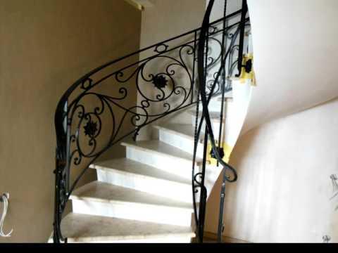 Перила 129  Из металла для винтовой лестницы кованые изготовление в  Днепр фото видео