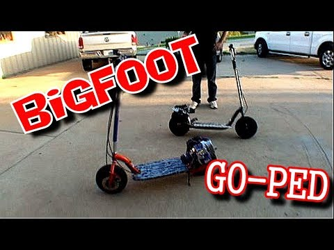 Building A Go-Ped BIGFOOT Scooter - YouTube