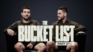 WOULD YOU GO SKYDIVING WITH SOKRATIS? | Bucket Lists with Leno, Mavropanos, Koscielny and more