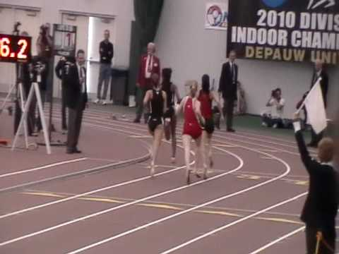 2010 NCAA Indoor Championships Tasha Arnold SMASHES 400m School Record in Prelims running 57.08