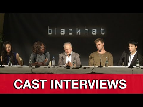 Blackhat Cast Interviews - Chris Hemsworth, Wang Leehom, Michael Mann, Viola Davis, Wei Tang
