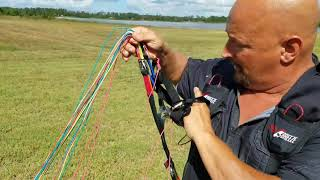 How to reverse launch a powered paraglider Captain Kurt Style