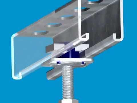 Unistrut Kwik Washer Overhead Installation With One Hand